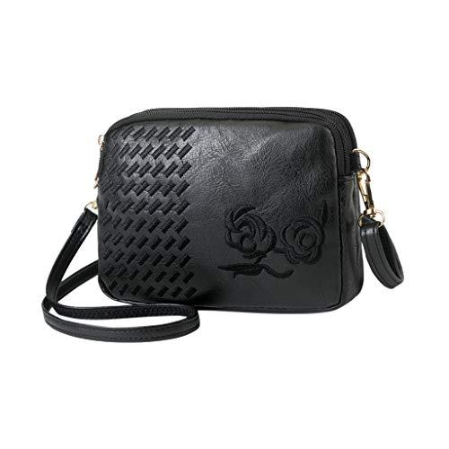 Darringls Borse a Spalla Donna Borsa a Tracolla Crossbody 2020 Nuovo Zaino antifurto Elegante Wild Zipper Embroidery Crossbody Messenger Shoulder Bag