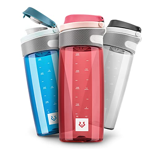 Alphatrail Tritan Trinkflasche Jay 550ml Rot 100% Auslaufsicher I BPA-Frei & Ökologisch I Spülmaschinengeeignet I Mit Einhand-Fliptop-Verschluss für optimale Hydrierung im Alltag