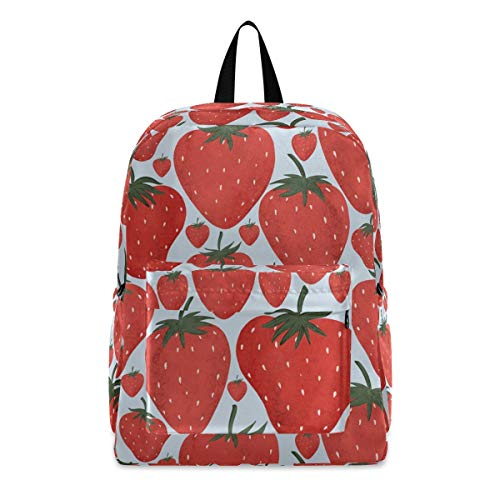 Strawberries Fashion School Backpack Lightweight Travel Laptop College Bookbag