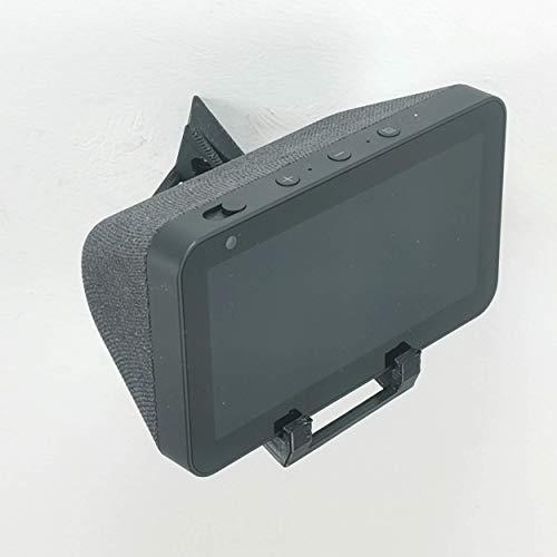 Echo Show 5 Soporte de pared para montaje en pared izquierdo 45 grados vertical (negro)