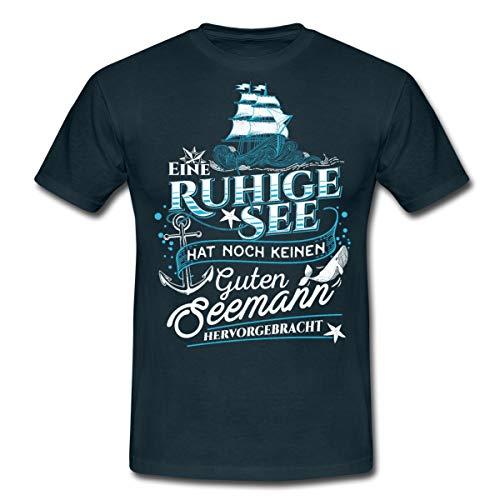 Ruhige See Macht Keinen Guten Seemann Männer T-Shirt, L, Navy
