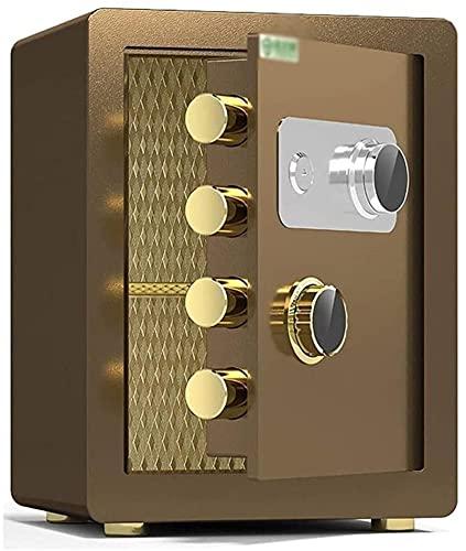 CXSMKP Caja fuerteCaja de Seguridad, Cerradura mecánica de Acero de aleación, Doble protección de la Clave y contraseña mecánica, Segura de hogar Inteligente Adecuada