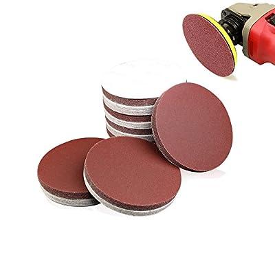 60 Pcs 5 Inch Sanding Discs,NO-Hole Circular Hook and Loop Sandpaper Sanding Sheets - 40 60 120 Grits Sand Paper Assortment for Random Orbital Sander