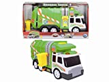 Dickie 3308357 Camión de Basura luz y Sonido Action Series 39cm, Color Verde