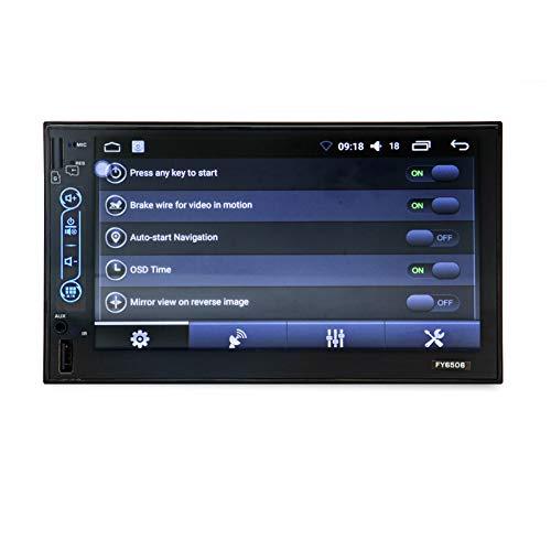 KANGLE-DERI Navegación General del automóvil Reproductor MP5 para automóvil Android Pantalla capacitiva de 7 Pulgadas Procesador de 4 núcleos, Descarga de la APLICACIÓN de Pantalla WiFi HD