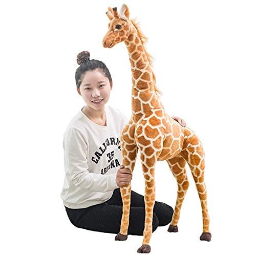 XINQ 60-120 cm simulación Linda Jirafa Relleno Suave Animal muñecas Accesorios para el hogar niños Regalo de cumpleaños 80 cm (Size : 120cm)