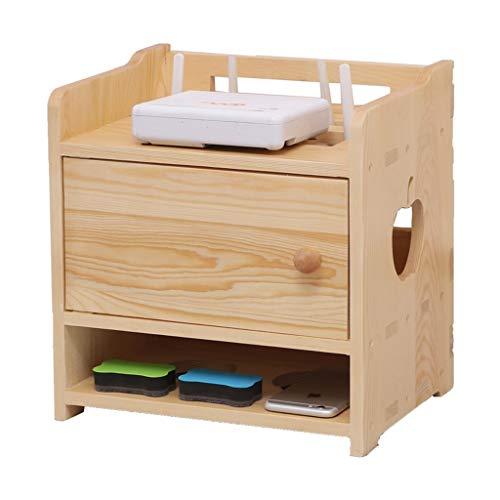 Multifunción Caja de almacenamiento de enrutador inalámbrico Sala de estar Caja de enchufe del hogar Wifi Light CAT TV Set-Top Box Rack Almacenamiento de tres capas puede ser montado en la pared