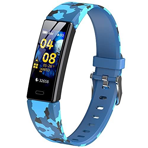 Jiudong Smart Watch-IP68 impermeable ritmo cardíaco reloj inteligente fitness Tracker niños reloj para Android IOS