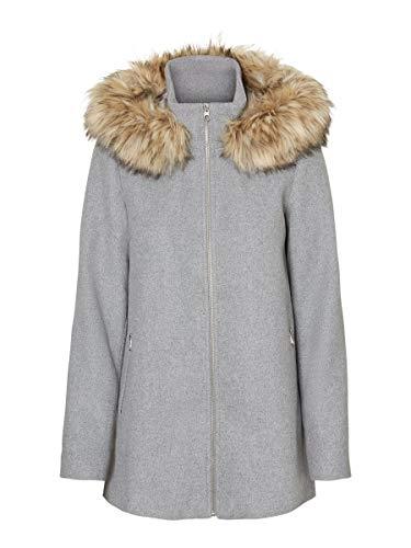 Vero Moda Vmcollaryork Collar Wool Jacket Ga Noos Chaqueta para Mujer