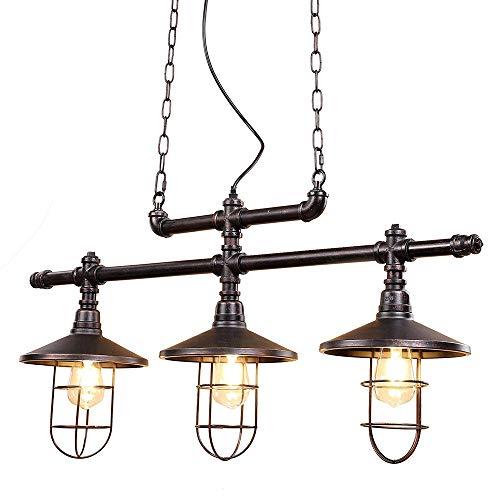 Mopoq Kronleuchter, 3 Leuchten Barn Beleuchtung Industrie Bronze Schwarz Kitchen Island Lighting Restaurant, Schlafzimmer, Urlaub auf dem Bauernhof, Billiardtisch
