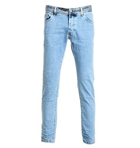 Luxury Fashion | Messagerie Heren 259169T092800000 Blauw Elasthaan Jeans | Seizoen Outlet