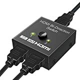 HDMI Switch, ARKIM Hdmi Splitter 4K Adapter Bidirektional 2 In 1 Out oder Schalter 1 In 2 Out,...
