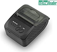 SZTW09 Durable Portable Bluetooth Wireless Receipt Thermal Printer, Personal Portable Bill Printer 2 inchs 58mm USB POS Printer for Restaurant Sales Retail Compatible with iOS/Android/PC/Windows/Linux