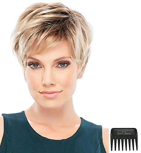 Bundle - 3 Items: Allure PETITE CAP Wig by Jon Renau, Christy's Wigs Q & A Booklet & Wide Tooth Comb - Color: 12FS8