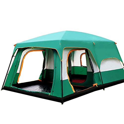 FREEDOL 10 Person Outdoor Tent, Family Tent, Rainproof And Breathable Tent with Curtain, Suitable for Family And Friends Out Camping-430 * 305 * 200CM,Green