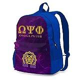 AOOEDM Backpack Omega PSI Phi Mochila Bolsa de Viaje Mochila Escolar universitaria Bolsa de computadora Regalos para Mujeres y Hombres