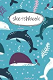 Sketch Book: dolphin sketchbook for Kids: Blank Paper Notepad for Drawing - 120 pages 6 x 9 in .