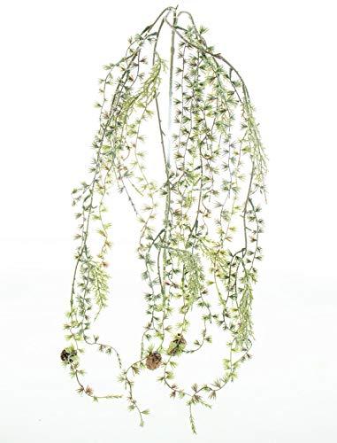 DauerFloristik Lärchenzweig geeist hängend 120 cm künstlich Weihnachten