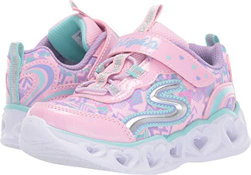 Skechers Zapatillas para niña, con corazones y luces, color Rosa, talla 38 EU
