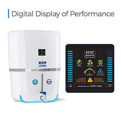 Kent - 11080 Superb Star 9-litres Wall Mountable RO + UV + UF + TDS Controller (White) 20-Ltr/hr Water Purifier