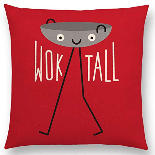 SUIBIAN Funny Cartoon Happy Days Cushion Cover Sofa Throw Pillow Case