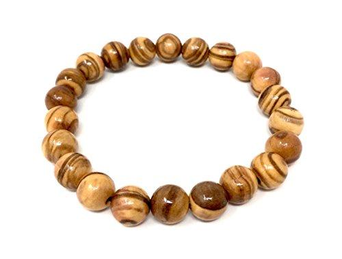 Armband aus echten Olivenholz Perlen 9mm handgemacht Holzschmuck Schmuck auch als Fußkettchen tragbar