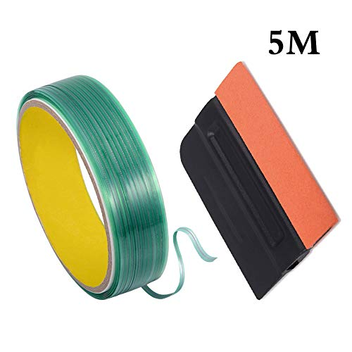 Knifeless Tape, Asudaro Schneideband Folie messerlos Schneiden 5M Schneidetape für Car Wrapping Feine Konturen Beim Folienscheiden, Autozubehör