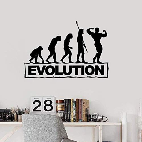 58Cmx36 8Cm Bodybuilding Fitness Evolution Aufkleber PVC Gym Wandaufkleber