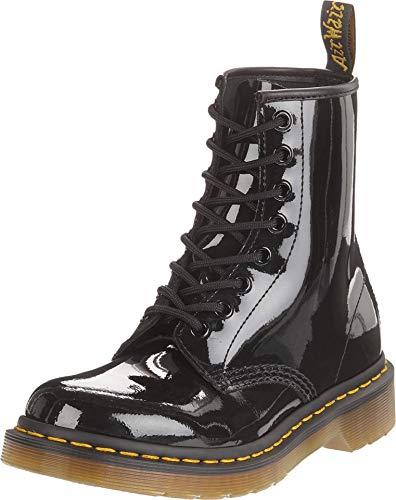 Dr. Martens 1460 Damen Boots Stiefel Black Patent Lamper - 37