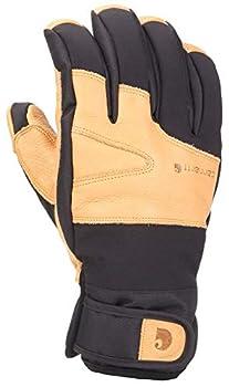 Carhartt Men s Winter Dex Cow Grain Leather Trim Glove Black/Brown X-Large