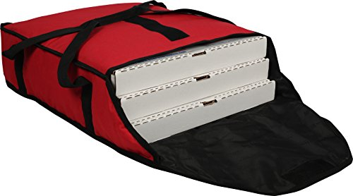 San Jamar PB20-6 Commercial Insulated Pizza/Food Delivery Bag, 6' H x 18' W x 20' D Red