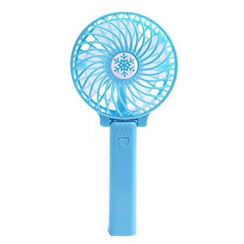 MJBOY Ventilatore USB Muto Ventilatore Portatile Mini Ventilatore Portatile Pieghevole Ricaricabile,Blue