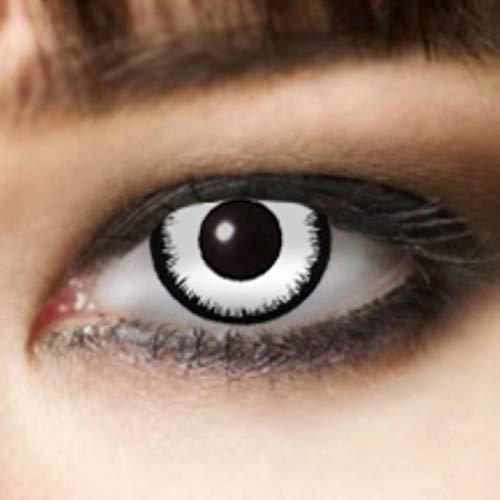 King of Halloween kontaktlinse Weiß ohne Sehstärke Angelic 3 Monats Halloween Kontaktlinsen Zombie, Vampir Halloween Make up Halloween Schminke