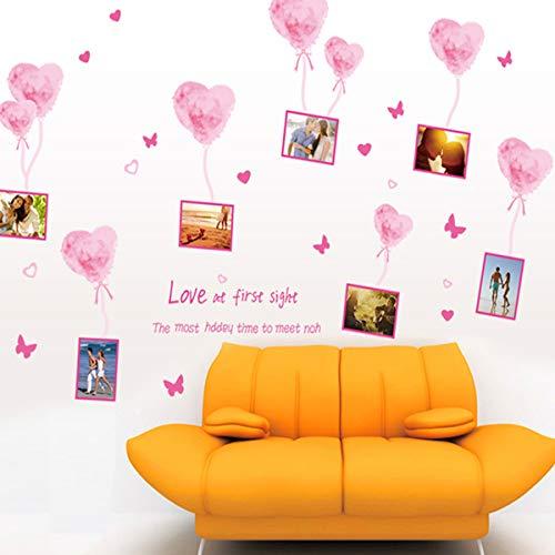 De hete lucht kan verwijderen van de foto muur Stickers van de liefde ballonnen, en Post een achtergrond om de stijlvolle en warme slaapkamer kamer te versieren60X90cm