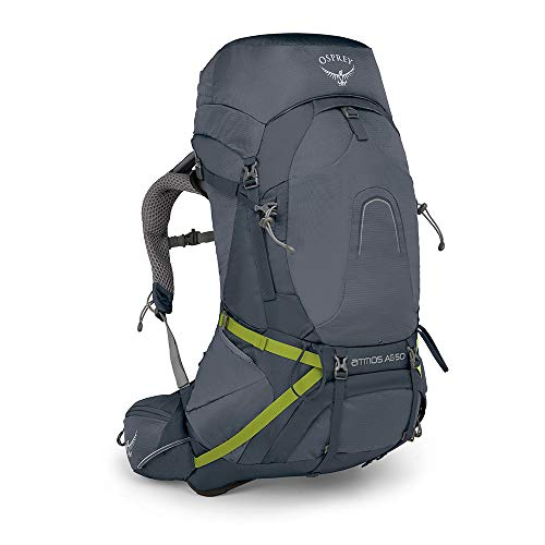 Osprey Herren Atmos AG 50 Backpacking Pack, Abyss Grey, LG