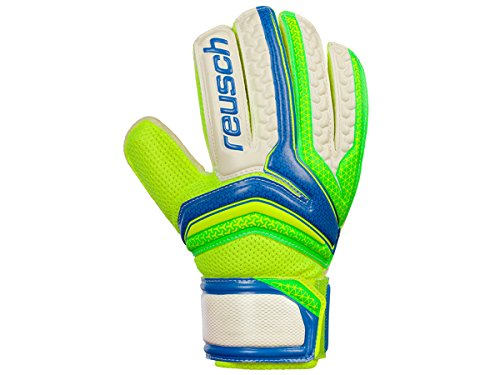 Reusch Serathor RG Easy Fit Niño, Guante de Portero, Electric Blue-Green Gecko, Talla 4
