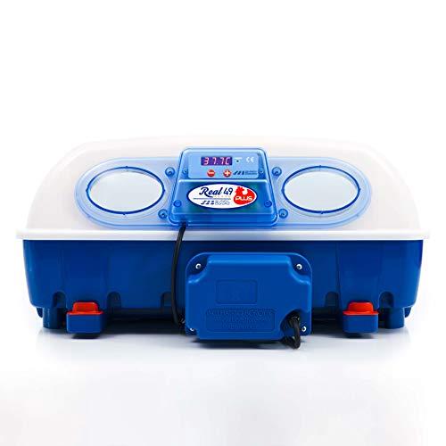 Borotto automatische REAL 49 PLUS - Patentierte professionelle Brutmaschine mit automatischem Eierwender und wärmeisolierendem Material mit antibakteriellem Zusatz - für 49 Eier oder 196 kleine Eier