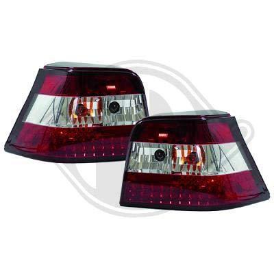 2213994 achterlichten Golf 4 Limousine type 1J 1997 tot 2003 rood-wit