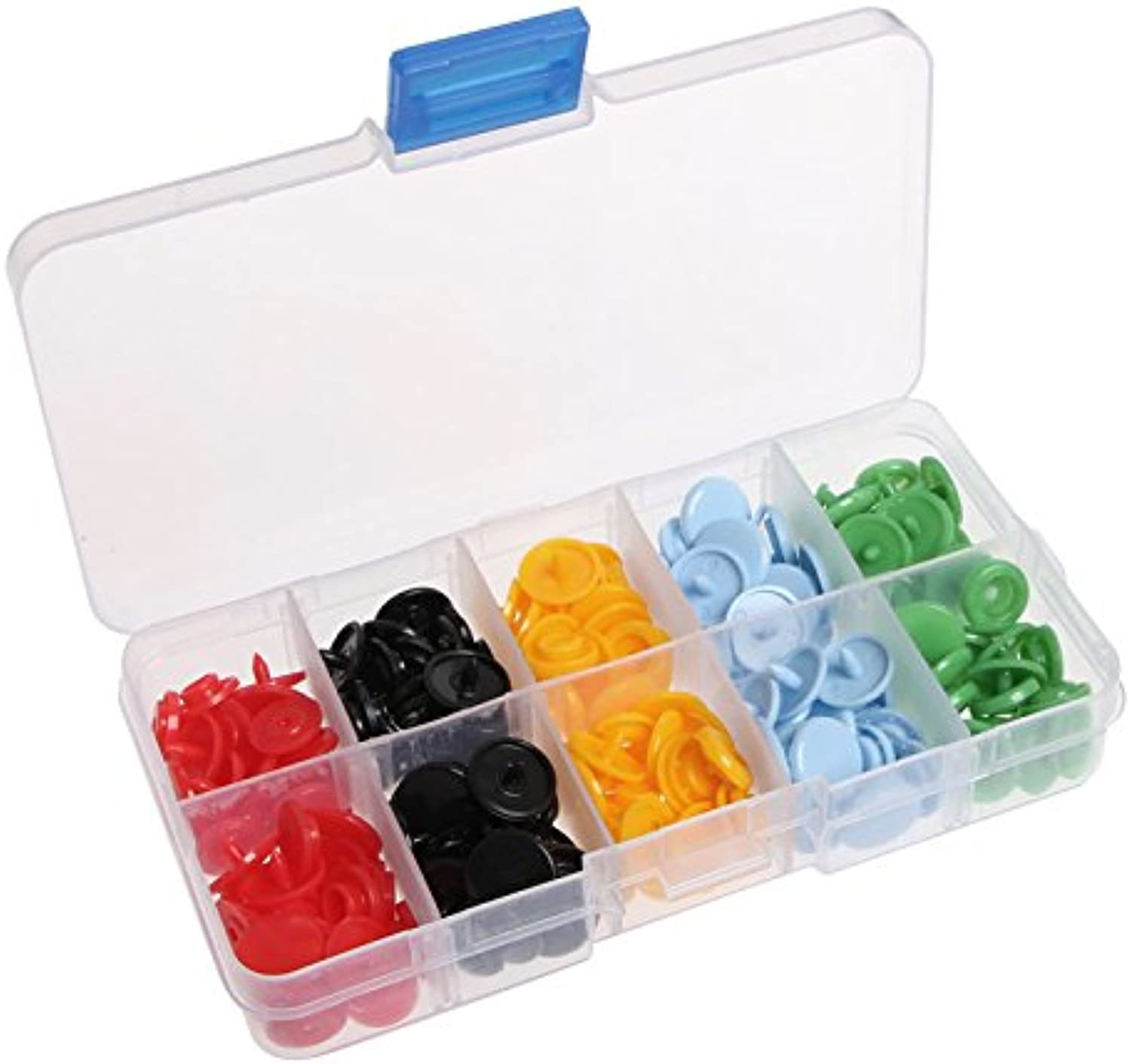 50Pcs Set Snaps Fasteners Press Studs Dummy Clips 12MM Mixed Colour Resin Plastic