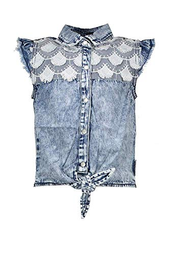 B.Nosy Teens meisjes T-shirt blouse Top River Denim Blue Y003-5150-187