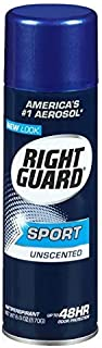 Right Guard Sport Unscented Aerosol Antiperspirant Spray 6 oz (Pack of 6)