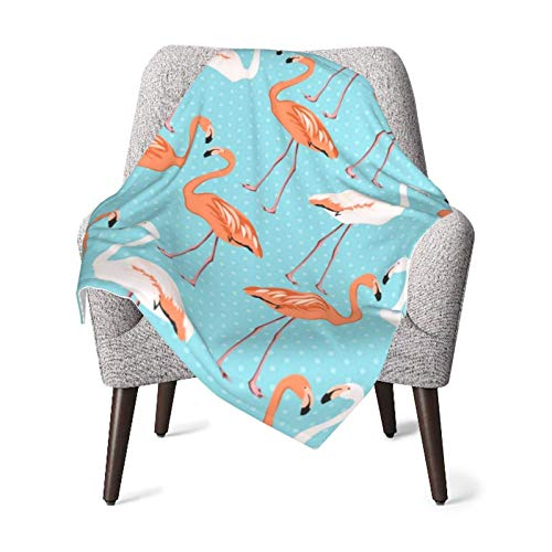 XCNGG Baby Blanket, Pink Orange Flamingo Toddler Fleece Blankets for Travel Decorative Cozy Plush Receiving Blankets 40x30 Inch