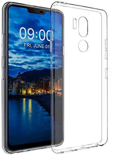 REY - Pack 3X Cover in Gel TPU Trasparente per LG G7 THINQ, Ultra Sottile 0,33 mm, Morbido Flessibile, Custodia Silicone