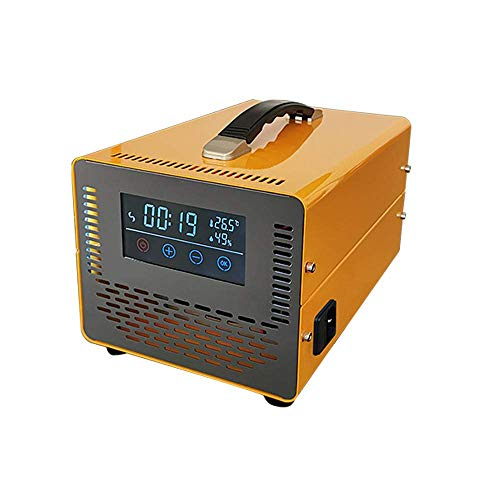 MOSHANG 40000mg / h ozone generator Household O3 Industrial Air Purifier, Timer, Temperature for Hotel Rooms, Cars, Pets, Flue Gas, Deodorants and Silver Deodorants (Color : Yellow, Size : 20g/h)
