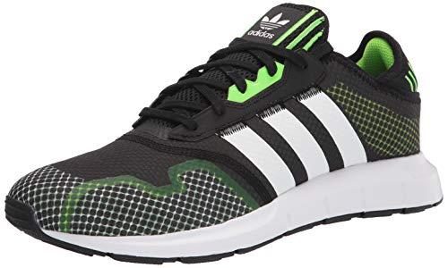 adidas Originals mens Swift Run X Black/White/Solar Green 10