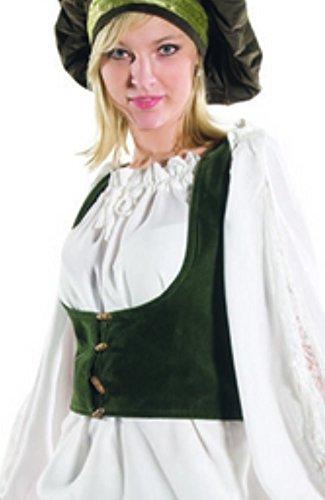 Bäres Mittelalter Mieder - Damen Stella XL/schwarz