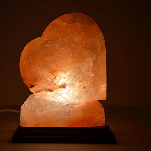 Lampada di sale rosa a forma di Cuore