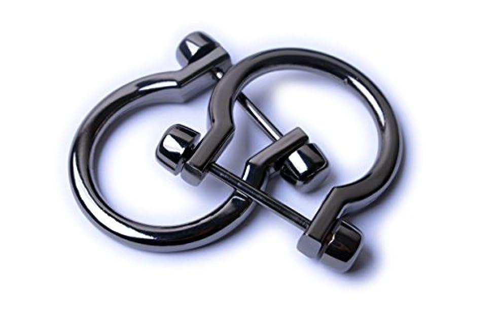 Bobeey 4pcs Gunmetal U Shape D-Rings,Horseshoe Shape D Ring,U Shape D Rings,Screw in Shackle Horseshoe Shape D Ring DIY Leather Craft Purse Keychain Accessories BBC11 (Black Gun)
