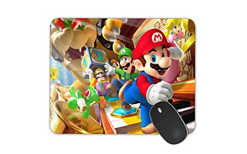 JNKPOAI Cute Super Mario Print Mouse Pad Personalized Design of Office Game Mouse Pad Cartoon Mouse Pad with Clear Design (Super Mario#2)