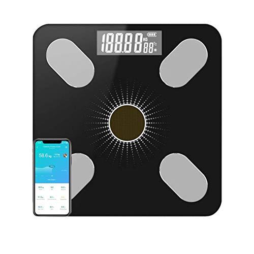 Seguimiento preciso de la tecnología de análisis de bioimpedancia: Permite Que Varios usuarios utilicen la aplicación de Carga Solar Bluetooth Smart Electronic Human Health Scale Medición de P